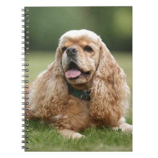 Cute Cocker Spaniel Spiral Note Book