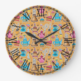Cute Coffee and Cakes Design Wall Clocks