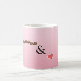 Cute coffee and love mug