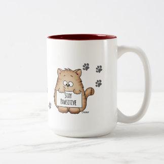 Cute Coffee Mug  with Cat - Stay Pawsitive!
