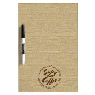 Cute Coffee Shop Business or Family Dry Erase Board