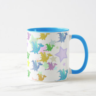 Cute Color Dragons Pattern Mug