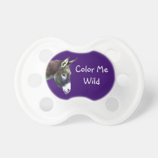 Cute Color Me Wild Donkey Burro Baby Pacifiers