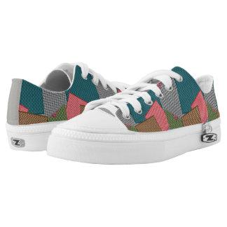 cute color shoes printed shoes