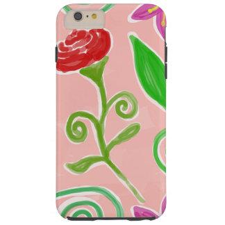 cute colored flowers tough iPhone 6 plus case
