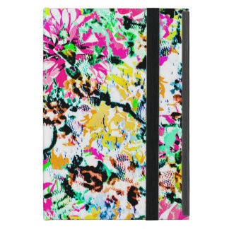 Cute colorful abstract floral iPad mini case