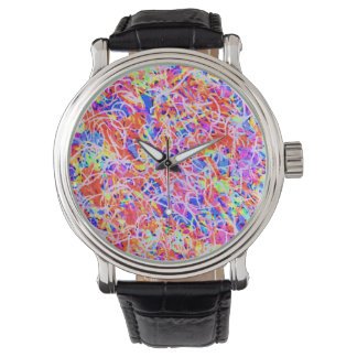 Cute colorful abstract lines painting watch