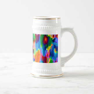 Cute colorful abstract painting design mugs
