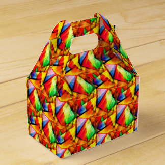 Cute colorful abstract seamless triangles patterns favour box