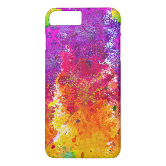Cute colorful abstract splatter paint iPhone 7 plus case