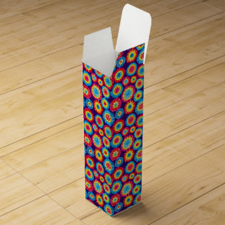 Cute colorful abstract suns patterns wine gift box