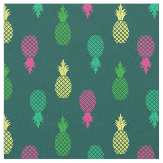 Cute Colorful and Tropical Pineapple Pattern Fabric