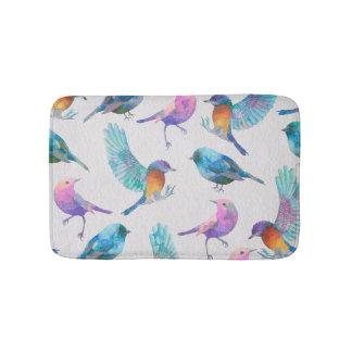 Cute Colorful Birds Bath Mat