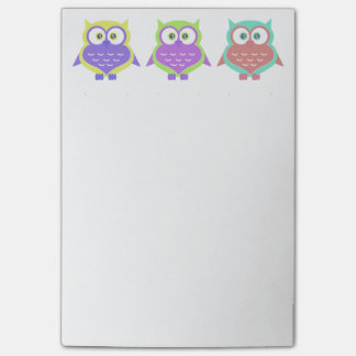 Cute Colorful Bright Owl Birds Cartoon Post-it® Notes