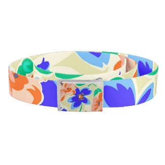 Cute colorful butterflies roses patterns belt