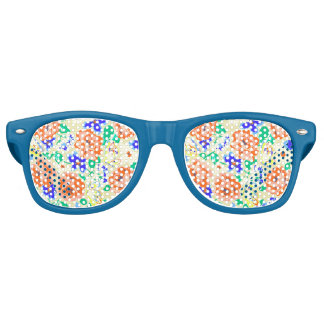 Cute colorful butterflies roses patterns retro sunglasses