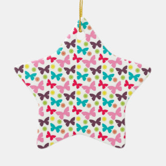 Cute Colorful Butterfly, Butterflies Pattern Ceramic Star Decoration