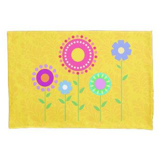 Cute colorful cartoon flower pillowcase cover