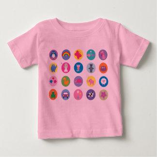 Cute Colorful Cartoon Icons T-shirt
