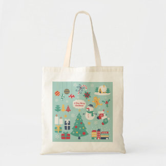 Cute colorful Christmas Snowman pattern Bag