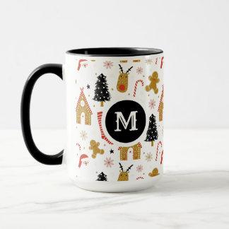 Cute Colorful Christmas Symbols Pattern Mug