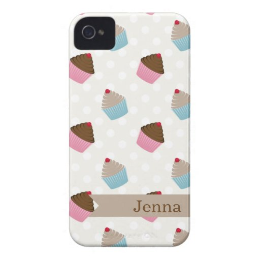 Cute Colorful Cupcakes Blackberry Case