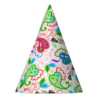 Cute colorful decorative flowers patterns party hat