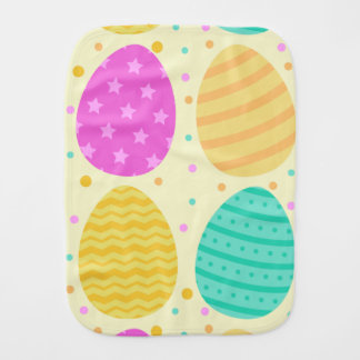 Cute colorful easter eggs pattern burp cloth