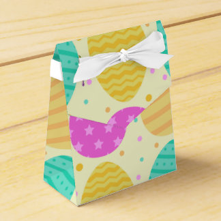 Cute colorful easter eggs pattern favour box