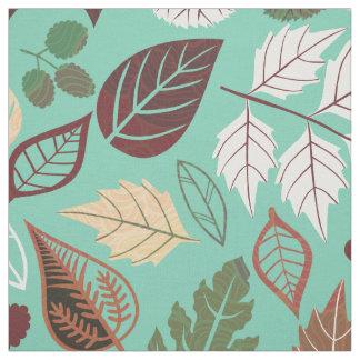 Cute Colorful Fall Leafs Pattern 3 Fabric