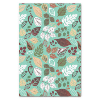 "Cute Colorful Fall Leafs Pattern 3 10"" X 15"" Tissue Paper"