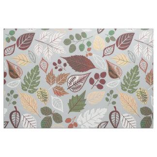 Cute Colorful Fall Leafs Pattern Fabric