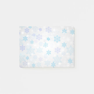 Cute Colorful Festive Christmas Snowflakes Post-it Notes