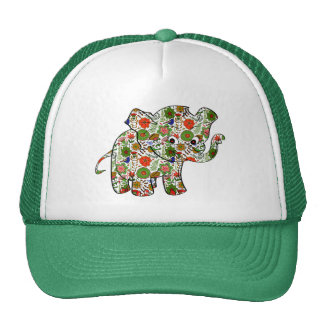 Cute Colorful Floral Baby Elephant Cap