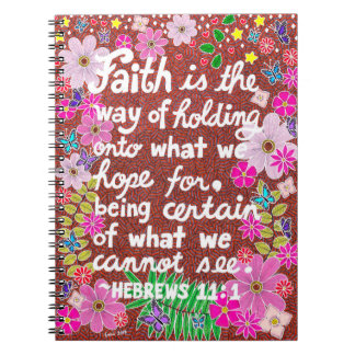 Cute Colorful Floral Faith Bible Verse Notebook