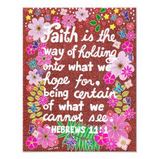 Cute Colorful Floral Faith Bible Verse Photographic Print