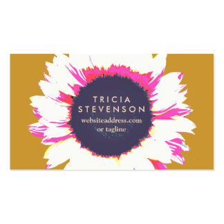 Cute Colorful Floral SunFlower Pack Of Standard Business Cards