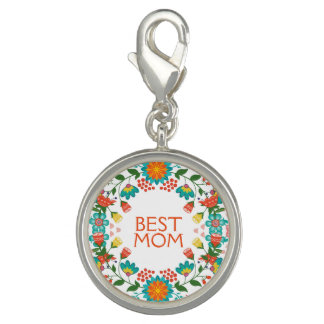 Cute Colorful Floral Wreath Best Mom