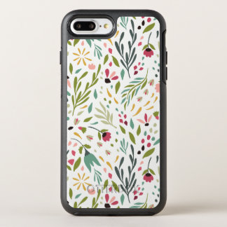 Cute Colorful Flowers & Leafs Pattern OtterBox Symmetry iPhone 8 Plus/7 Plus Case