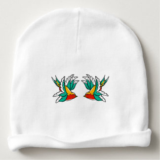 Cute colorful flying swallow baby beanie