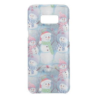 Cute Colorful Funny Winter Season Snowmen Pattern Uncommon Samsung Galaxy S8 Plus Case