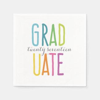 Cute Colorful Graduation Napkins Paper Napkins