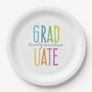 Cute Colorful Graduation Paper Plates