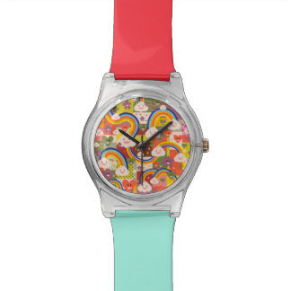 Cute colorful harajuku illustration pattern watch