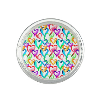 Cute colorful hearts pattern