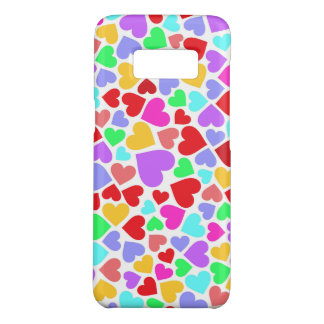 Cute colorful hearts patterns Case-Mate samsung galaxy s8 case