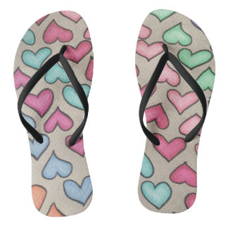 Cute Colorful Hearts Thongs