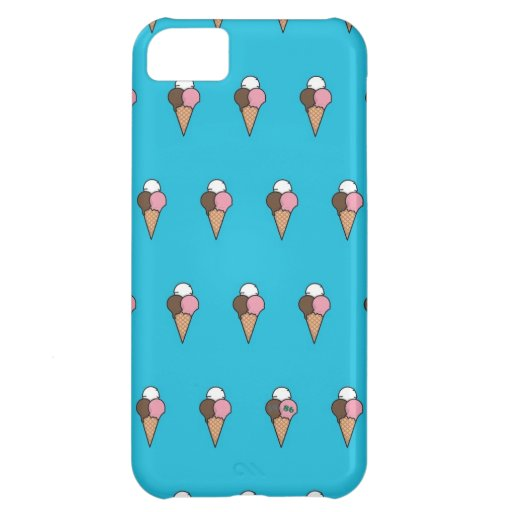 Cute Colorful Ice-Cream Pattern Cover For iPhone 5C
