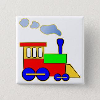Cute Colorful Kids Train Engine 15 Cm Square Badge
