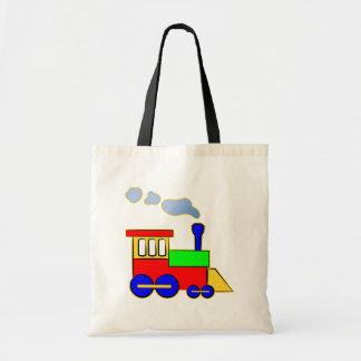 Cute Colorful Kids Train Engine Tote Bag
